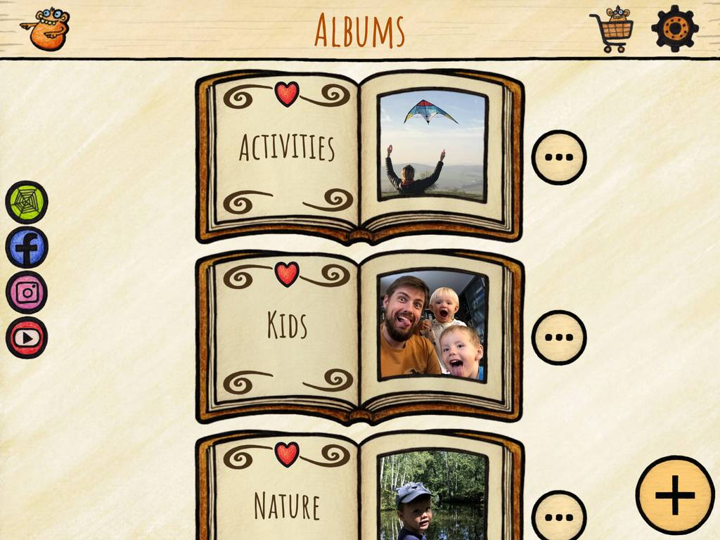 Personalize kids' favorites into custom albums.