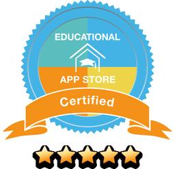 Pětihvězdičkový certifikát na Educational App Store